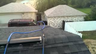 Pool solar heating panel hookup to pool pump.