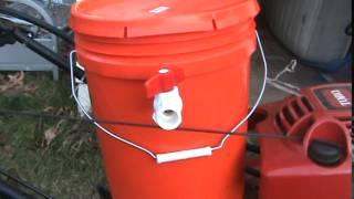 Home Depot Bucket Style Gas Vaporizer Running Lawnmower!