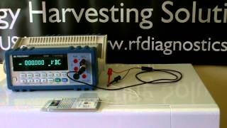 Microwave Energy Harvesting Module to a Voltmeter Demo