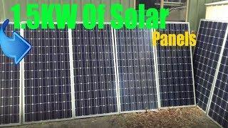 DIY Tesla Powerwall | 1.5KW Of Solar Panels! | Update 22