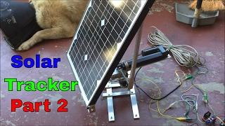 Junkyard Engineering: DIY Solar Tracker (Part 2) Horizontal Axis