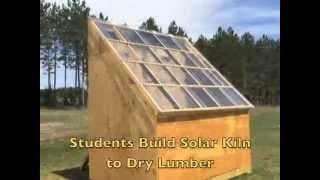 Northern Waters Environmental School's Solar Kiln