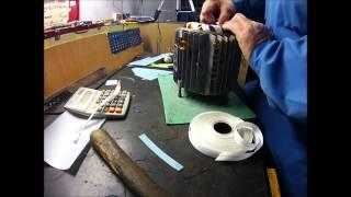 Rewinding AC electric motor