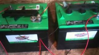 deep cycle batteries with 40watt solar panel