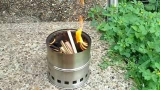 Lixada Wood Gasifier Camp Stove Silver Fire Clone Review & Test