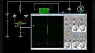 Simulación de Control de velocidad de motor por ancho de pulso (PWM)