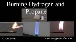 Burning hydrogen and propane and cooking hydrogen marshmallows