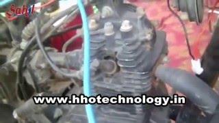 hho kit installation in 100cc bike