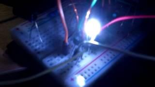 3 LED light joule thief using parts I have lying around