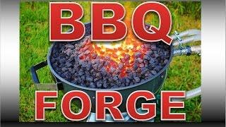 BBQ Forge Build - DIY Professional Blacksmiths Side Blast Forge