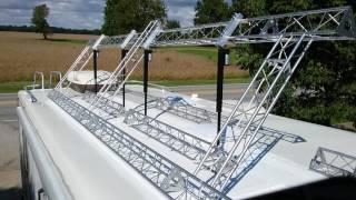 RV Solar panel frame remote tilt