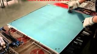Assembling table parts 4 far infrared heating table