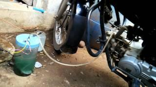 Bike running on HHO kit home made