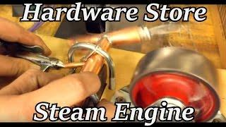 Steam Engine from Hardware Store Parts! | Iron Wolf Industrial