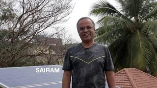Grid Connected Roof-top Solar power system explained by K. Sairam