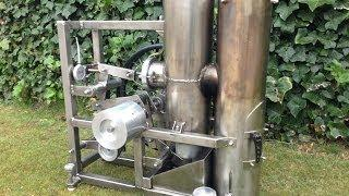 Stirling engine heissluftmotor / Home made hot air engine of stainless-steel