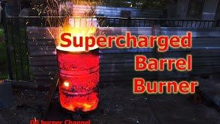 Turbo Burn Barrel. Fan forced fast rubbish incineration, No Smoke