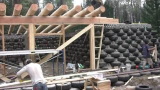 Earthship build in BC Canada 1 of 2