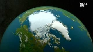 Arctic ice melting in 2016 heat
