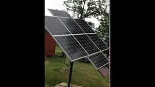 single axis 1100 watt solar tracker