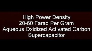 Graphene Free High Power Density Symmetric Oxidized Activated Carbon Supercapacitor