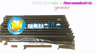 How can I make a thermoelectric generator just with simple kitchen items and appliances?