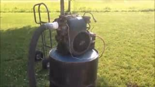 Wood Gasifier Runs 16 hp Engine