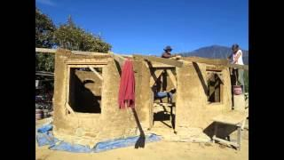 Cob building time lapse of our project in India