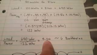 Calculating Batteries Required for Solar Setup