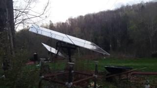 Single  Axis 1 kw Solar world 250 w ..DIY solar tracker  testing