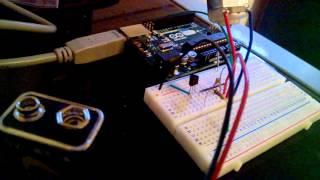DC motor control w/ speed ramp via PWM