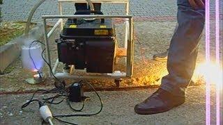 Electric Generator running on Gasoline Mist (+600 Watt load)