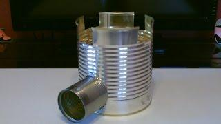 "Homemade STEEL CAN Rocket Stove! - The ""BIG CAN"" Rocket Stove! - Awesome Stove! - Easy DIY"