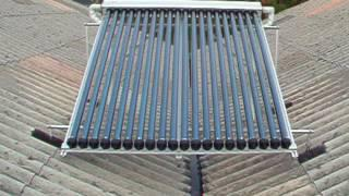 Sunrain evacuated tube heat pipe solar collector, SRCC, glass evacuated tube heat pipe solar panel