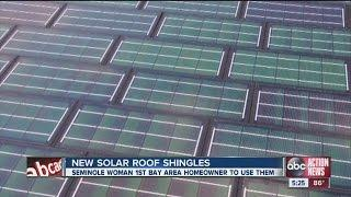 New solar roof shingles