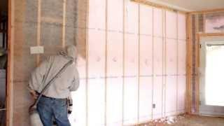 Double Wall Construction and Blown-In Insulation in a Zero Energy Home (ZEH)