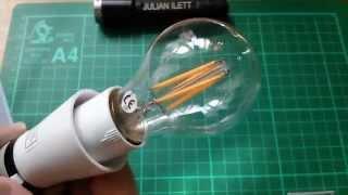 Postbag #21: 4W LED filament bulb, Wearable bits, PIR Light Angel