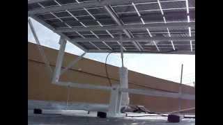 How to build a solar tracker. DIY solar panel sun tracker.