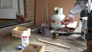 My home made furnace, diy aluminium foundry metal pour pt1