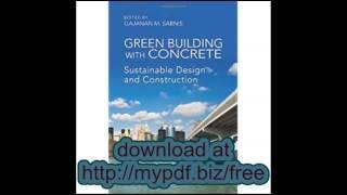 Green Building with Concrete Sustainable Design and Construction