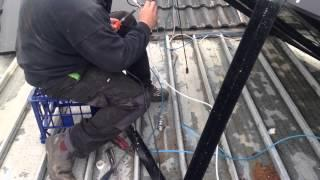 DIY CIGS thin film solar panel install.