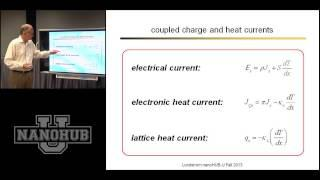 nanoHUB-U Thermoelectricity: Scientific Overview Shakouri-Datta-Lundstrom