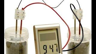 Bio battery Soil battery mud battery to charge your iphone