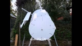 homemade  VAWT vertical axis wind turbine
