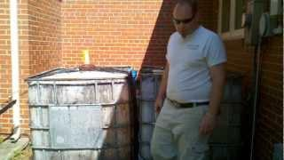 Craigslist IBC containers for Aquaponics and an anaerobic digester.wmv