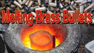 Melting Brass in Charcoal Foundry Forge, 5lb Ingot from Bullet Shells Casings, Aluminum Casting Pt 5