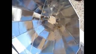 Homemade Double Angled Twelve Sided (DATS) Solar Cooker Parvati