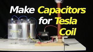 How to Make Capacitors for Tesla Coil - Small SGTC