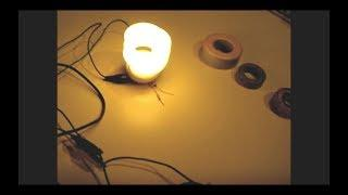 Joule Thief(Mini Toroid) Powers CFL using 1.3V+