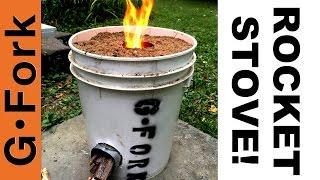 DIY Rocket Stove In A 5 Gal Bucket - GardenFork
